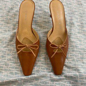 Vintage 90s Gianni Bini Kitten Heel Mules